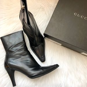Gucci Stivaletto Pelle Ankle Boots